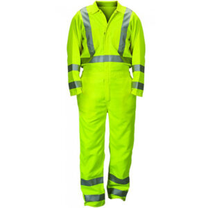 Coverall with Zippered Boot Openings