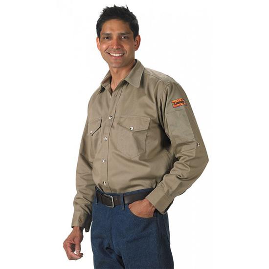 Khaki Vented Back Shirt