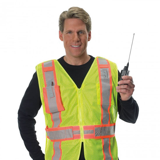 Premium Mesh 5 Point Break-away Public Safety Vest